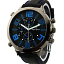 V6 Hombre Reloj Militar Reloj de Pulsera Cuarzo Cuarzo Japonés Silicona Banda Negro Blanco Naranja Amarillo Azul