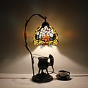 Lampe de table-Traditionnel/Classique / Rustique/Campagnard / Tiffany-Métal-Tons multiples