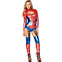 Red 1pc Wet Look Web Crawler Costume