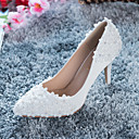 Women's Wedding Shoes Heels Heels Wedding / Party & Evening / Dress Red / White