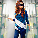 Women's Casual Loose-fitting Color Block T-shirt