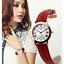 skmei® Dame Lederband japanische Quarz 30m Wasserdicht Mode Uhr