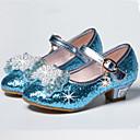 Girls Glass Slipper Princess Crystal Shoes Soft Bottom Dress shoes Leather Princess Shoes Performance shoes Sandal Shoes