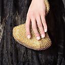 Gorgeous Satin med Rhinestone Peach Shape Evening Handbag / Clutches (Flere farver)