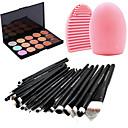Professionella makeupborstar (20 st), concealer (15 st färger) och borstrengöringsverktyg