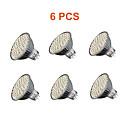 5W GU5.3(MR16) Faretti LED MR16 60PCS SMD 3528 280lm lm Bianco caldo / Luce fredda Decorativo AC 220-240 V 6 pezzi