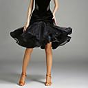 ラテンダンス チュチュスカート 女性用 演出 チュール ベルベット プリーツ 1個 ナチュラルウエスト スカート