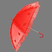 レッド♥レース♥自動開け♥ウェディング日傘 (KTB007)