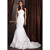Lanting Bride® Trumpet / Mermaid Petite / Plus Sizes Wedding Dress - Classic & Timeless / Elegant & Luxurious Court Train Strapless