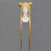 Pelucas de Cosplay Sailor Moon Sailor Moon Dorado Largo Animé Pelucas de Cosplay 100 CM Fibra resistente al calor Mujer