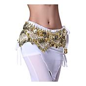Danza del Vientre Cinturón Mujer Representación Terciopelo Monedas 1 Pieza Cintura MediaBufanda Hip y cinta de Danza del vientre no