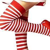 Calcetines y Medias Festival/Celebración Traje de Halloween Rojo / Blanco Medias Navidad / Año Nuevo Mujer Algodón