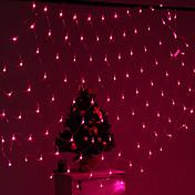 festival dekorace 120-led 8-mode růžové lehké čisté žárovky za plotem zahrady strany (220v)