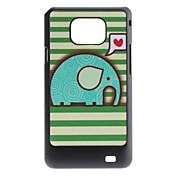Flash Diseño lindo del elefante patrón duro caso para Samsung I9100 Galaxy S2