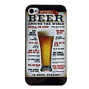 Cerveza Tipo de caja trasera para iPhone 4/4S