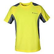 Hombre Camiseta de running Manga Corta Secado rápido Transpirable Camiseta Top para Ejercicio y Fitness Deportes recreativos 100%