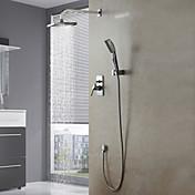 Shower Faucet Set Wall Mount Contemporary Chrome