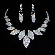 Joyería conjunto Aniversario de las mujeres / joyería de cumpleaños conjuntos de aleación / Rhinestone Rhinestone collares / pendientes como la imagen