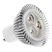5W GU10 Focos LED MR16 3 LED de Alta Potencia 320 lm Blanco Cálido AC 100-240 V