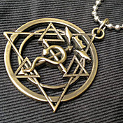 Jewelry Inspirirana Fullmetal Alchemist Edward Elric Anime Cosplay Pribor Ogrlice Zlatna Stainless Steel Male