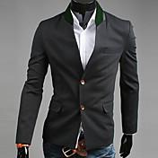 Negro 2013 otoño Nueva Corea del Modelo Individual mama Slim Fit Tweed Suit REVERIE UOMO Hombres