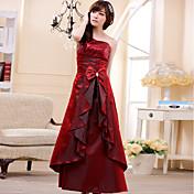 Mujeres JK2 Wine lentejuelas elegante estampado Vestido largo completo