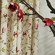 Dos Paneles Ventana Tratamiento Campestre Mezcla de Poliéster y Algodón Material cortinas cortinas Decoración hogareña For Ventana