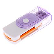 luna todo en un lector de tarjetas (SDHC, miniSDHC, tf microsdhc, rotación, color al azar)