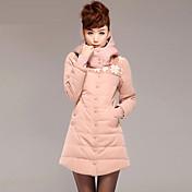 女性のパーカー厚い綿の暖かい長袖生き抜く