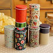 Bonito Mini Tea Canister Llevar caja de la lata (color al azar)
