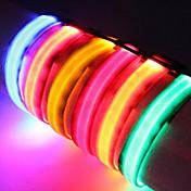 Colarinho Luzes LED Retratável Sólido Náilon