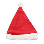 Sombreros Disfraces de Santa Festival/Celebración Traje de Halloween Rojo Un Color Sombrero Halloween / Navidad Unisex Terciopelo