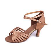 Zapatos de baile (Negro/Marrón) - Danza latina/Salón de Baile Tacón Personalizado