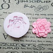 Flores DIY um molde Buraco Flor Silicone Fondant Moldes Sugar Craft Ferramentas Resina Mould moldes para bolos