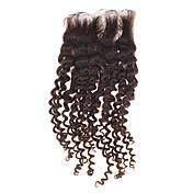 """12 """"cabello humano 100% Kinky rizado Natural Negro pedazo de cabello"""