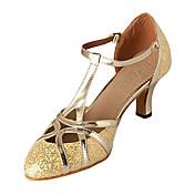 Zapatos de baile (Plata/Oro) - Moderno - No Personalizable - Tacón Personalizado