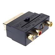 SCART Kompozitní 3RCA S-Video AV TV Audio adaptér