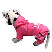 犬用品 レインコート レッド / イエロー / ピンク 犬用ウェア 春/秋 文字&番号 / 警察/軍隊