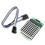 módulo de matriz de punto rojo MAX7219 con las líneas 5-dupont para (para arduino) (trabaja con (para arduino) Tablas oficiales)