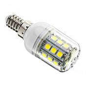 3w e14 llevó las luces del maíz t 27 smd 5050 200-250 lm refresca el dimmable blanco ac 220-240 v