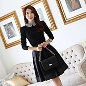 Dress Slim Fit elegante de JFS Corea Mujeres Sytle