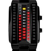 SKMEI Pánské Kapesní hodinky Digitální LED Kalendář Voděodolné Slitina Kapela Luxusní Černá Stříbro Černá Stříbrná
