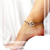 Nákotník/Náramky Slitina Jedinečný design láska Módní Heart Shape Šperky Šperky Pro Párty Denní Ležérní Vánoční dárky