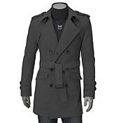 メンズソリッドカラーの長袖のファッションフィットコート
