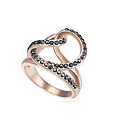 anillo de la declaración de amor magia 18KRGP de cristal con cuentas de las mujeres (más colores) (1 pc)