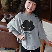Camiseta Chica deEstampado-Algodón-Otoño / Primavera-Gris