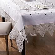 テーブルクロス手作りの白いテーブルクロスを刺繍