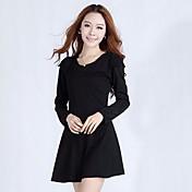 xinfu™オールスリム薄いバッキング長袖のドレス