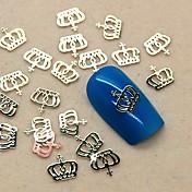 200pcs metalne krune dizajn zlatna kriška nail art ukras