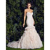 Lanting Bride® フィット&フレア ウェディングドレス コートトレーン スイートハート チュール とともに